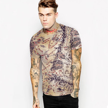 Buy Cool 3D T Shirt Men 2017 Mens Fashion The Lord of the Rings Map Printed O Neck T-shirt Brand Slim Fit Elastic Tshirt Tee Shirt for $9.99 in AliExpress store