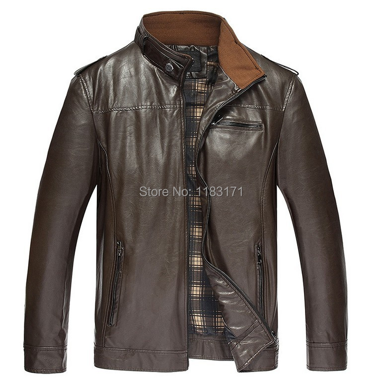 2014 Autumn Winter Brand Men Extra Large Size Leather