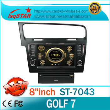 Car dvd wholesale for Volkswagen Golf 7car dvd with 3G GPS Support Steering Wheel Control USB IPOD Bluetooth Auto Radio DVD ATV