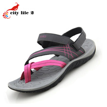 Women Sandals Outdoor Causal Velcro Open Toe 2015 New Authentic Vietnamese Sandals Comfortable Flat Sapato Feminino