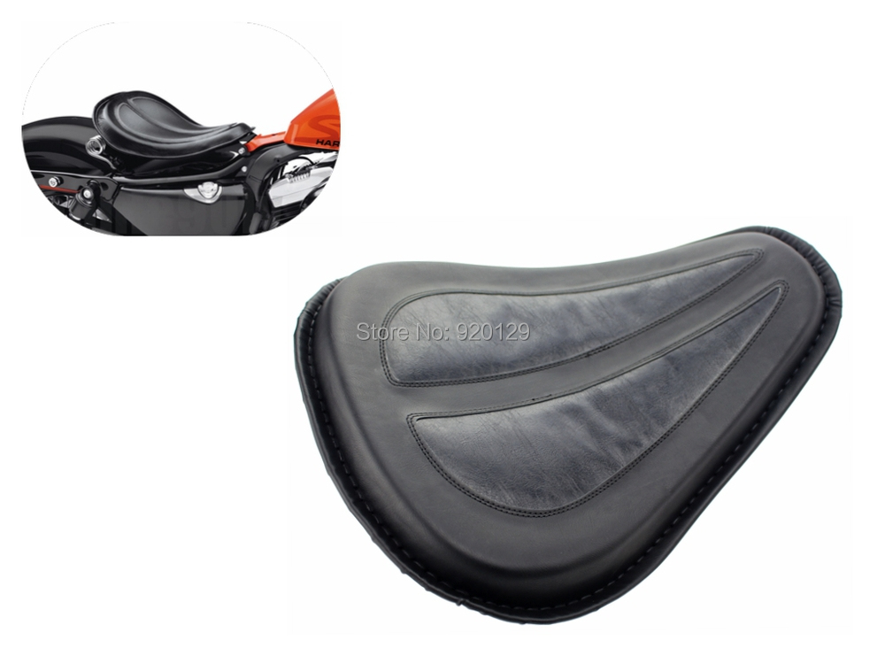 Motorcycle Black Solo Seat Saddle Seat  for Harley Dyna Fatboy Sportster Softail XL1200 XL883 <br>