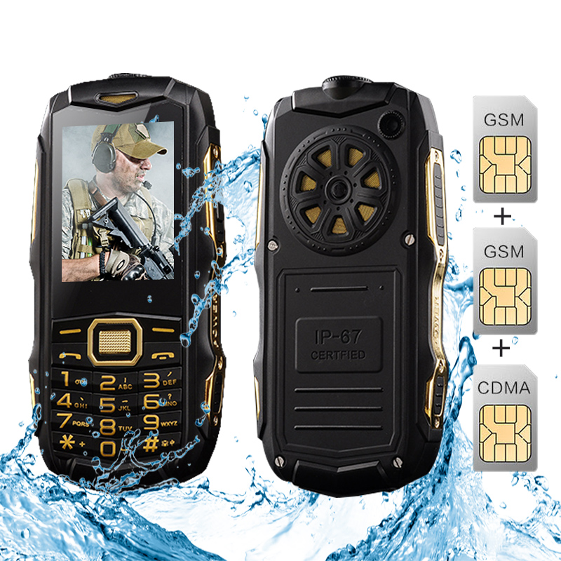 Original YSFEN Y809 Y809A Cell Phone Three SIM Cards 8800mAh GSM CDMA IP67 waterproof flashlight power bank rugged mobile phone(China (Mainland))