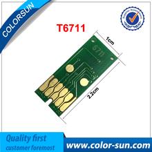 Nova t6711 one time use tanques de manutenção chip para epson wf-3520/wf-3620d wf-7110 7110dtw 7610 impressora(China (Mainland))