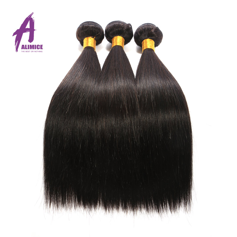 "Гаджет  Rosa hair products Malaysian virgin hair straight 4PCS/lot 6a unprocessed virgin hair human hair extension 8""-24"" 100g/bundles None Волосы и аксессуары"