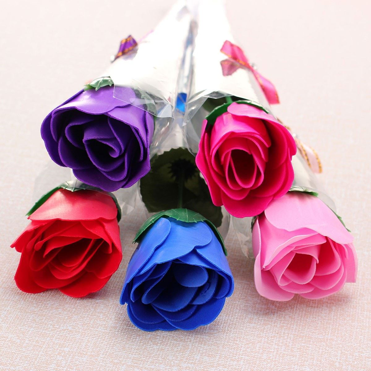 Artificial Handmade Rose Colourful Wedding Party Decoration C-reative Valentine Romantic Birthday Gifts To Girlfriend 10Pcs(China (Mainland))