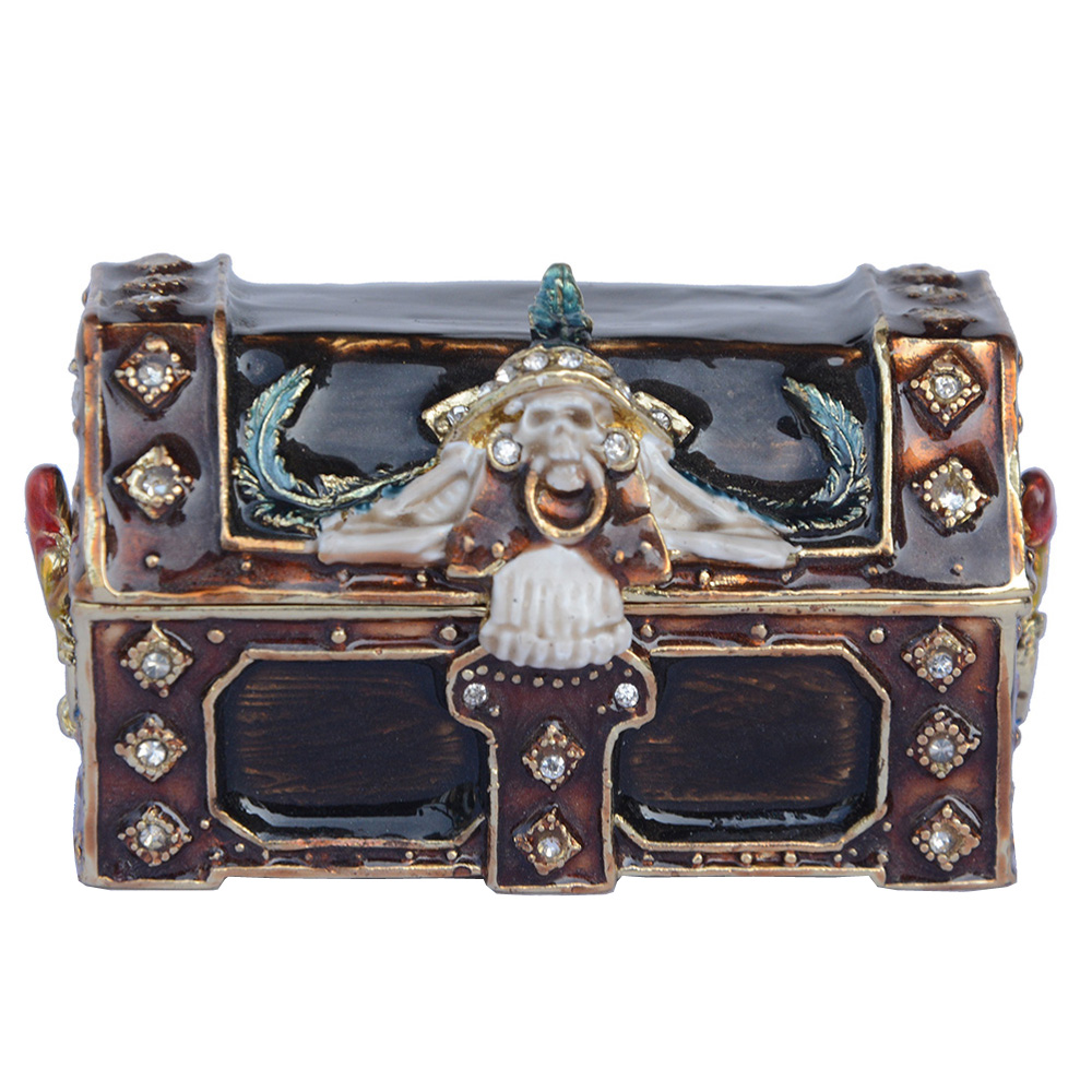 New arrival pirate treasure chest trinket box bejeweled metal jewelry box home decor Christmas X'mas gifts holiday gift TBP0582(China (Mainland))