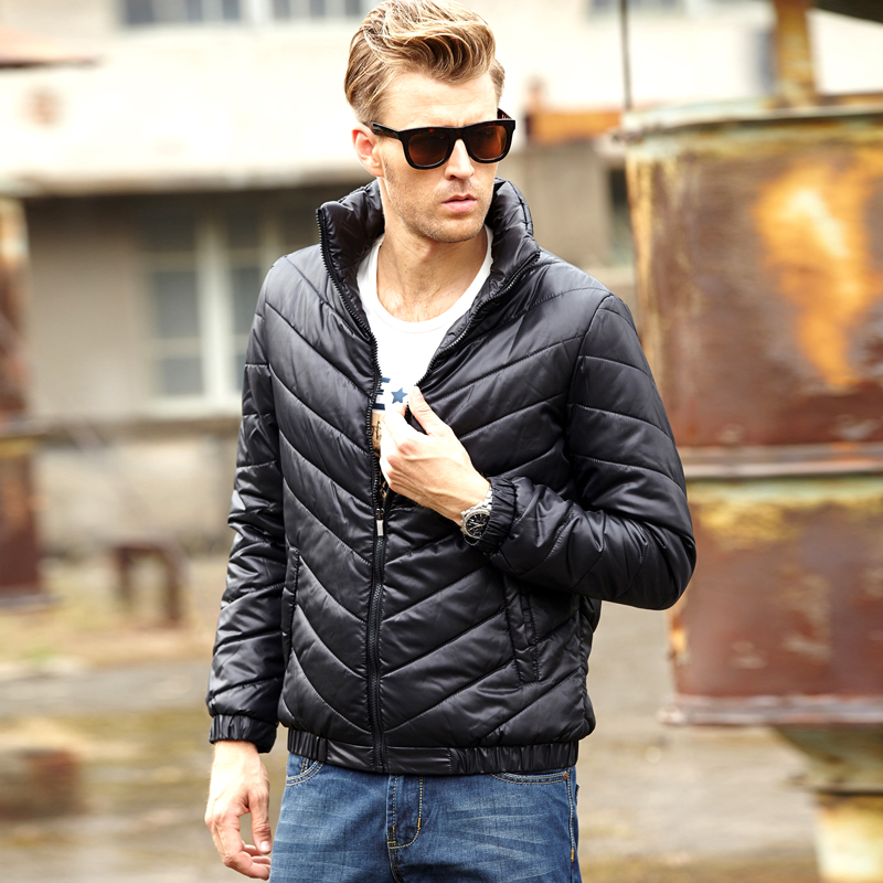 mens down jacket solid zipper parkas man jacket cotton-padded winter warm campera men brand men winter jackets and coats MY110(China (Mainland))