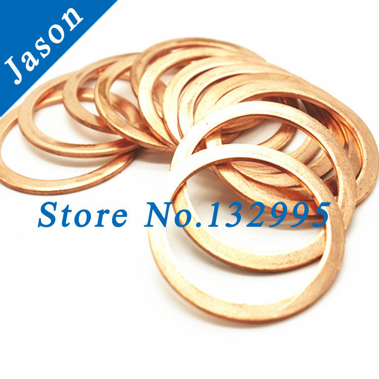 Copper washer M17(17mm*25mm*1mm) Copper Flat Washer, Seal washer, Brass washers M3M22(China (Mainland))
