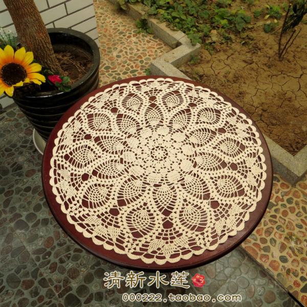 Handmade crochet doilies round tablecloths Crochet flower cotton round doily crafts doilies Home Decor [Can custom] 90% OFF(China (Mainland))