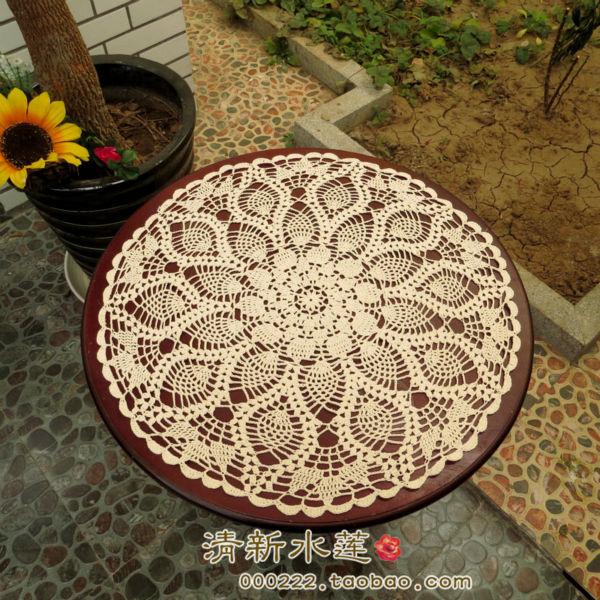 Handmade crochet doilies round tablecloths Crochet flower cotton round doily crafts doilies Home Decor [Can custom] 90% OFF(China (Mainland))