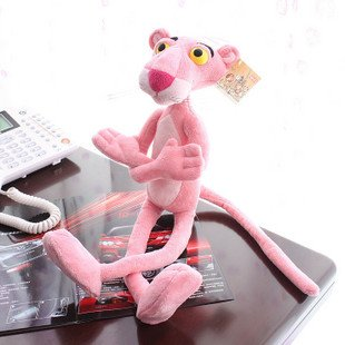 Candice guo! Hot sale super cute plush toy Nici pink panther stuffed toy birthday gift kids love most 50cm 1 PC(China (Mainland))