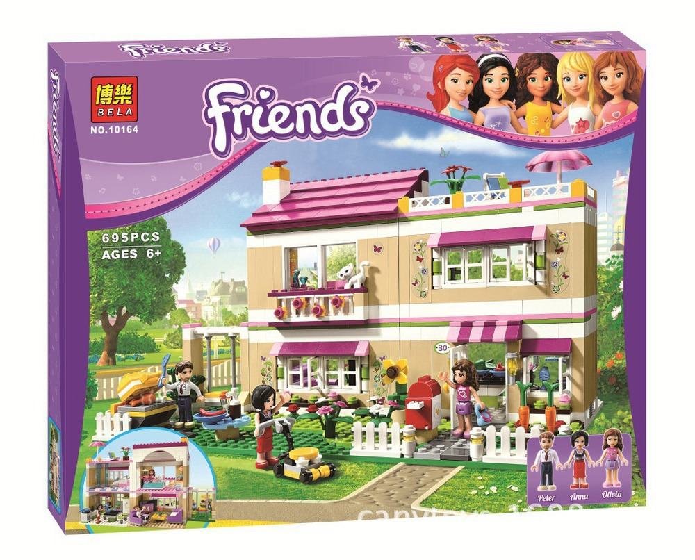 Without Original Box Bela Olivia s house 10164 Girl Friend series of childrens educational toys building blocks assembled<br><br>Aliexpress