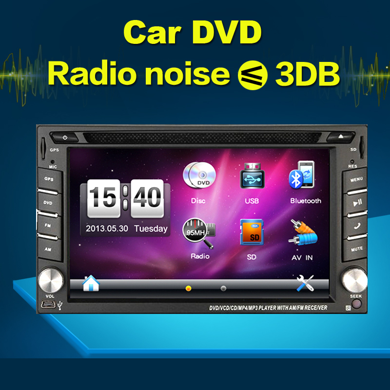 New universal Car Radio Recorder Double 2 din car dvd player GPS Navigation In dash Car PC Stereo Head Unit video+Free Map Cad!(China (Mainland))