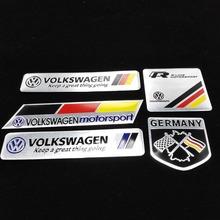 Car Trunk Badge Emblem Sticker Metal Aluminum VW Car Decal Sticker logo Motorsport For Volkswagen Jetta Bora Passat Golf Polo CC(China (Mainland))
