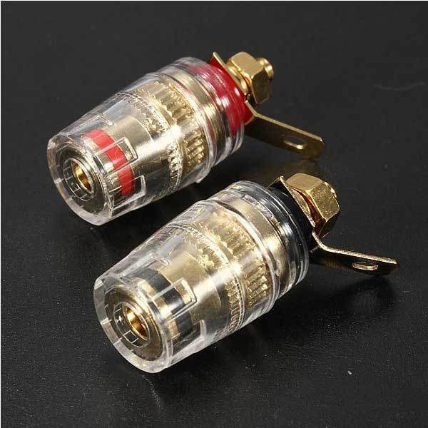 Aubreydo 2pcs Amplifier Speaker Terminal Binding Post Banana Plug(China (Mainland))