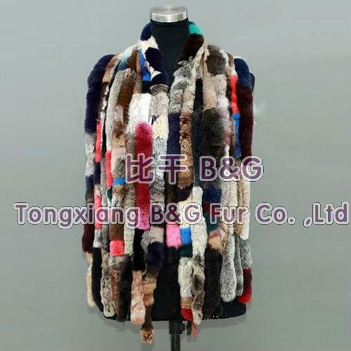 BG10265 Women Geniune Real Rex Rabbit Fur Shawl Colorful Fur Scarf Wholesale Tassels Lovely Scarf Spring Winter Fur Stole(China (Mainland))