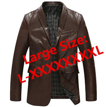Hot sale 2016 Autumn Winter men motorcycle genuine leather big size jacket coat men genuine leather jacket coat L-XXXXXXXXL