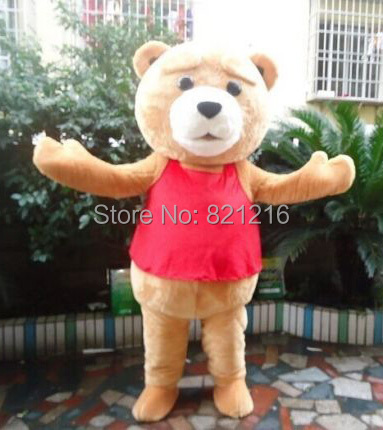 Teddy Bear of TED Adult Size Halloween Cartoon Mascot Costume Fancy Dress EVA(China (Mainland))