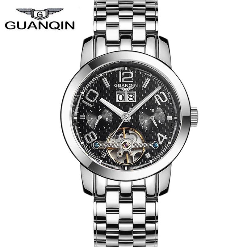 Original Luxury Brand GUANQIN Tourbillon Automatic Mechanical Watches Men Waterproof 100m Brand Watches Reloj Hombre 2016<br><br>Aliexpress