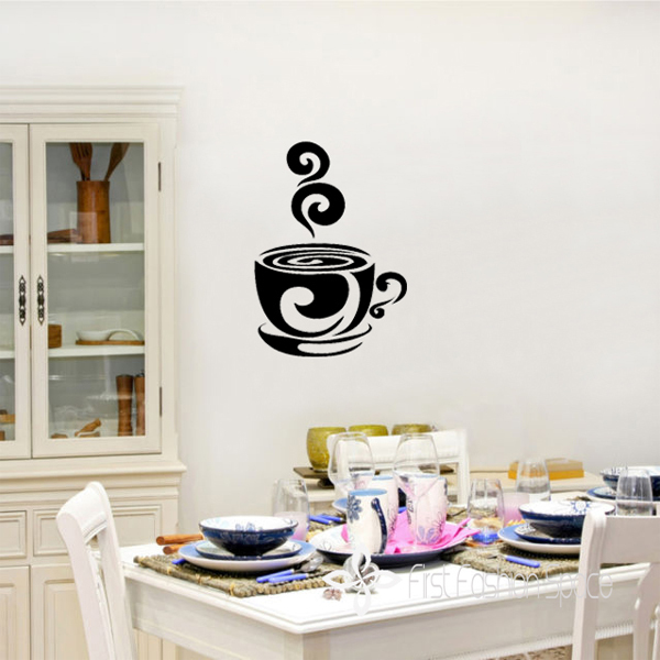 Shipping DIY Coffee Station Cafe Kitchen Vinyl Decal Sticker Walls