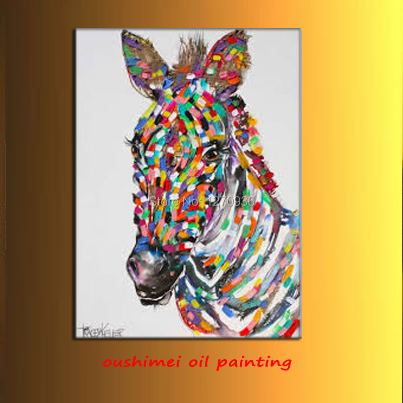 sad horse oil painting Abstract beautiful running horse very nice decoration wall art oil painting in the canvas(China (Mainland))