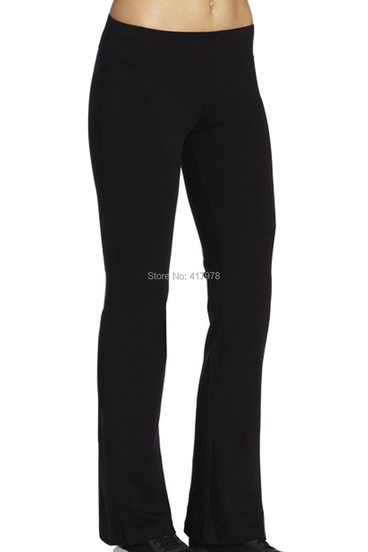 Sexy 2015 Women Sports Pants Cotton Flared Leggings Slim Fitness Trousers High Waist Elastic Leggins Workout Dance Gym harem(China (Mainland))