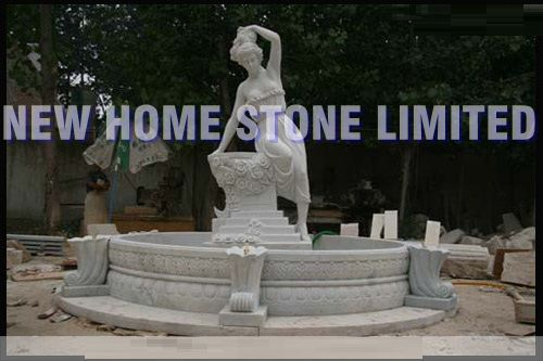 Female sculpture carving water pool outdoor statues and for Outdoor pool sculptures