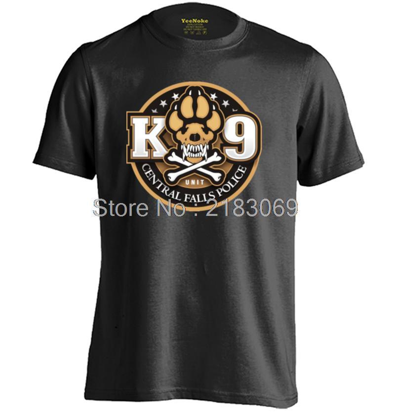 K-9 Unit Police Mens & Womens Casual Short Sleeve T shirt Cotton T Shirt(China (Mainland))