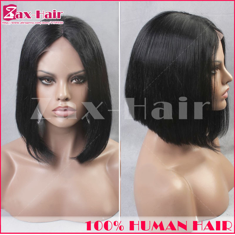 Best lace front wig  for sale short u part wig Brazilian virgin human hair stocked middle left right part for black women cheap
