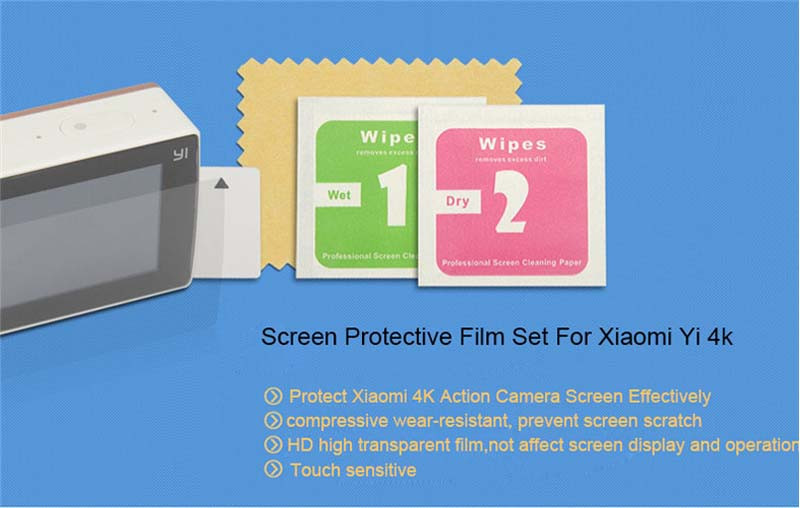 5 in 1 Screen Protective Film For Xiaomi yi 2 4K Protect Camera Screen LCD Display For Xiaomi Yi 4k Action Camera 2 Accessories