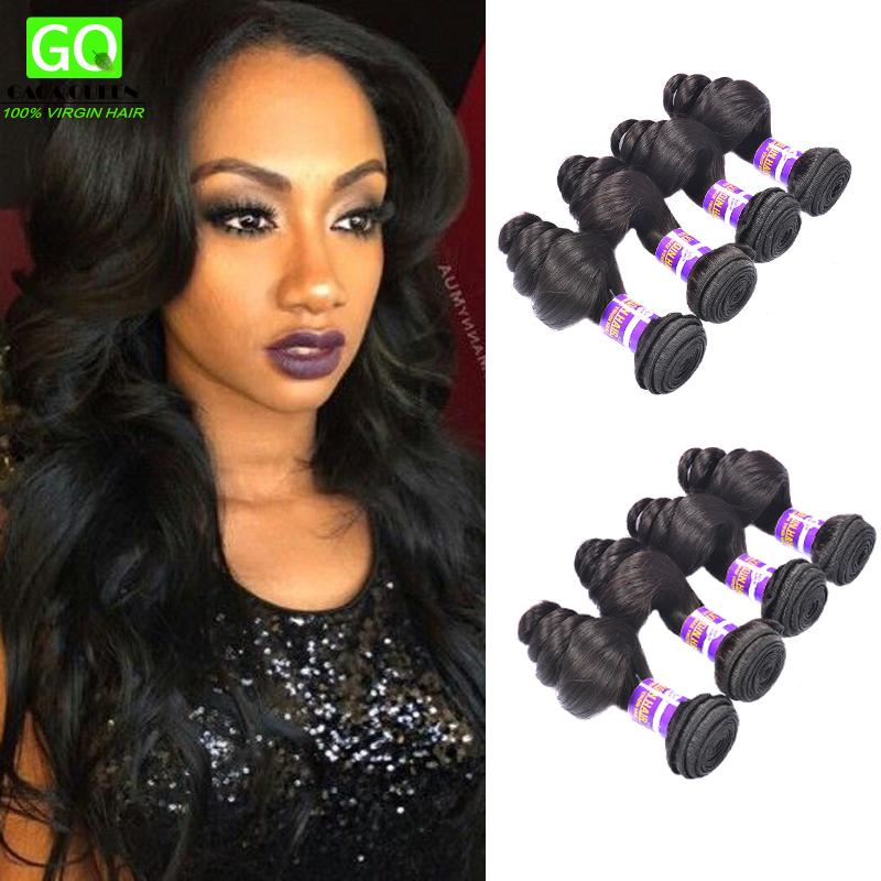 Hot 8A Virgin Peruvian Loose Wave 4Pcs/Lot Soft And Full Vip Beauty Hair Peruvian Loose Wave Peruvian Loose Curly Virgin Hair(China (Mainland))