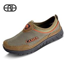 New 2014 Brand Camel Genuine Leather Breathable Casual Summer Zapatillas Hombre Shoes Sport Low-top Summer Shoes Men Sneaker