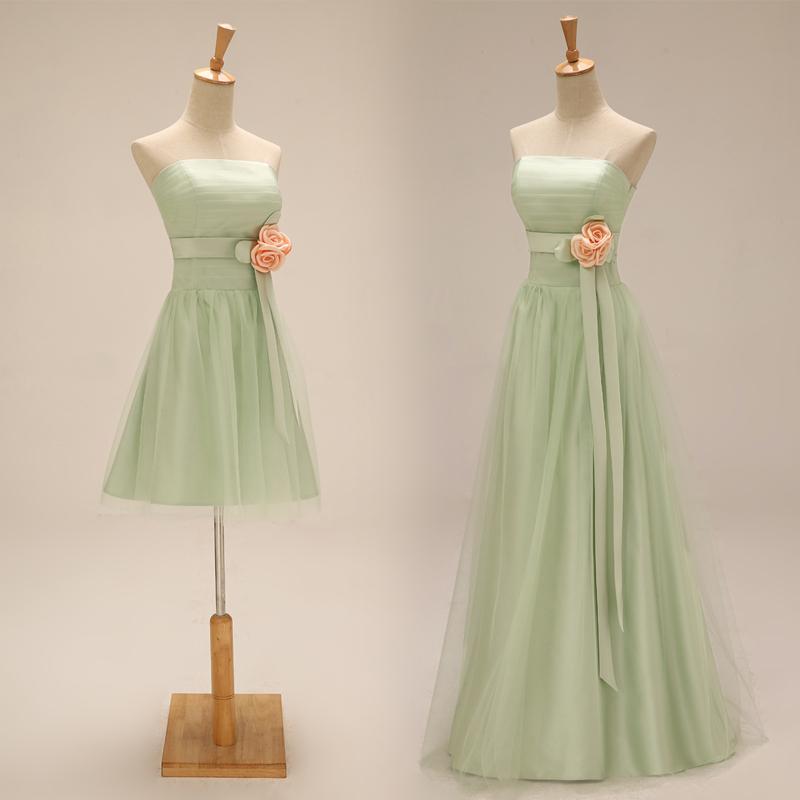 Buy light green bridesmaid dresses long for Light green wedding dress