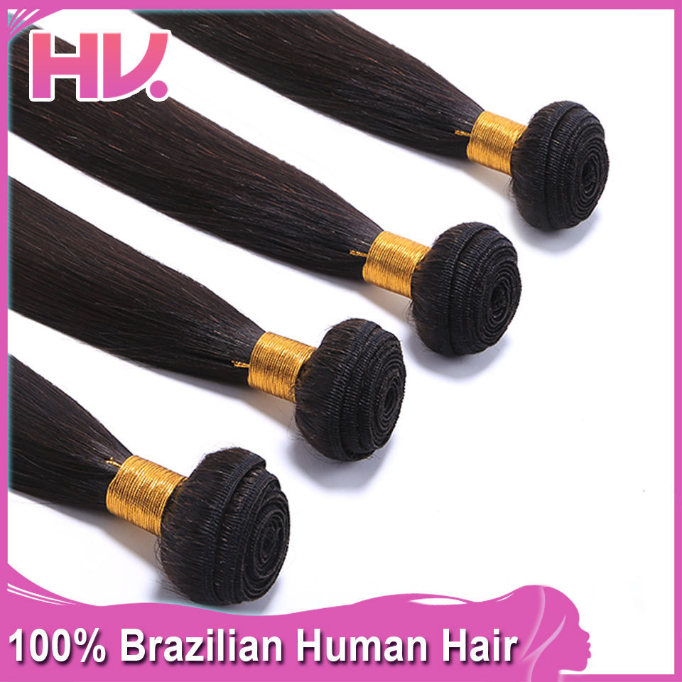 4PCS lot Cheap Hair Extentions Peruvian Virgin Human Hair 6A Grade 100% Unprocessed Straight Hair Weave Free Shipping