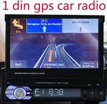 new GPS Car Radio bluetooth MP3 FM/USB/1 Din/remote control/USB port 12V Car Audio bluetooth 1 din auto radio blueooth aux in(China (Mainland))