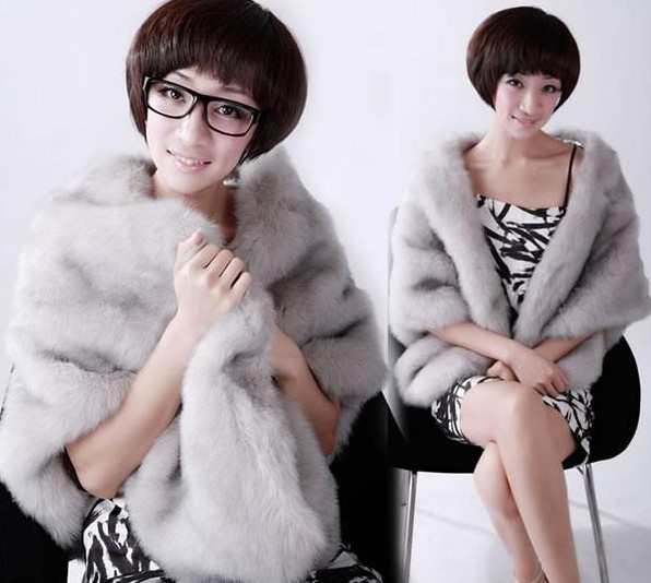 2012 fashion faux cape trend banquet scarf Christmas formal dress wedding fur - diandaoxingfu store