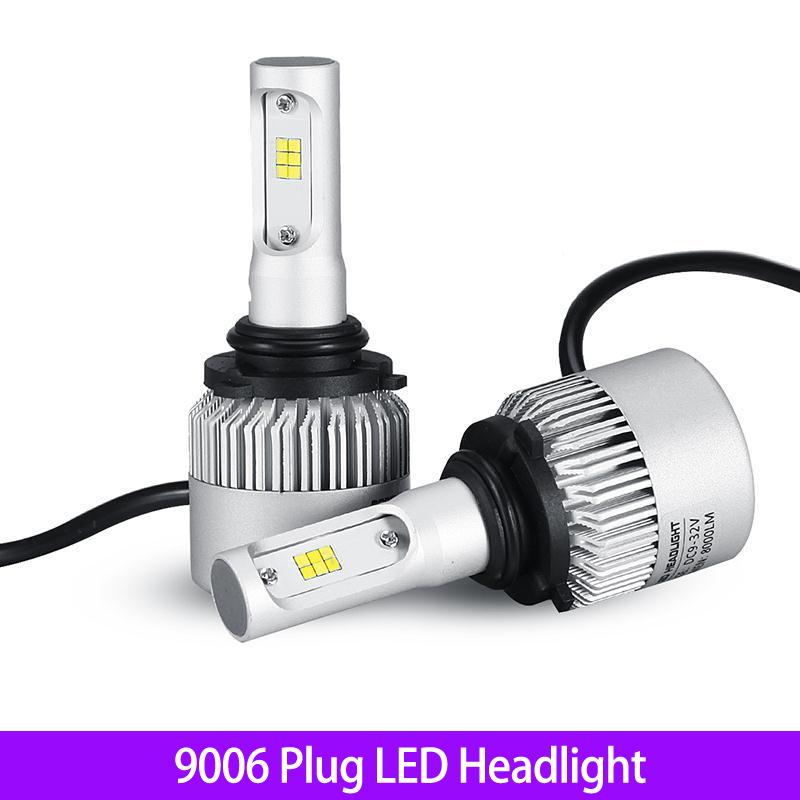 2pcs/set 9006 CSP LED Car Headlight Bulbs Single Beam 72W 8000lm Cool White 6500K Head Light Universal For Car Truck Vehicles(China (Mainland))