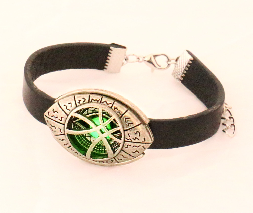 Doctor Strange Grow in Dark Leather Bracelet