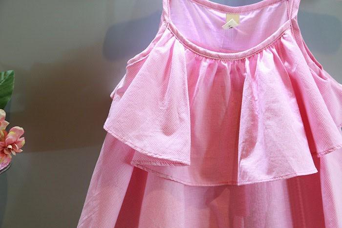 retail 1 pieces 2015 summer children blouse girl cute Cake girls sleeveless garment for 2~7 age girl infants blouse