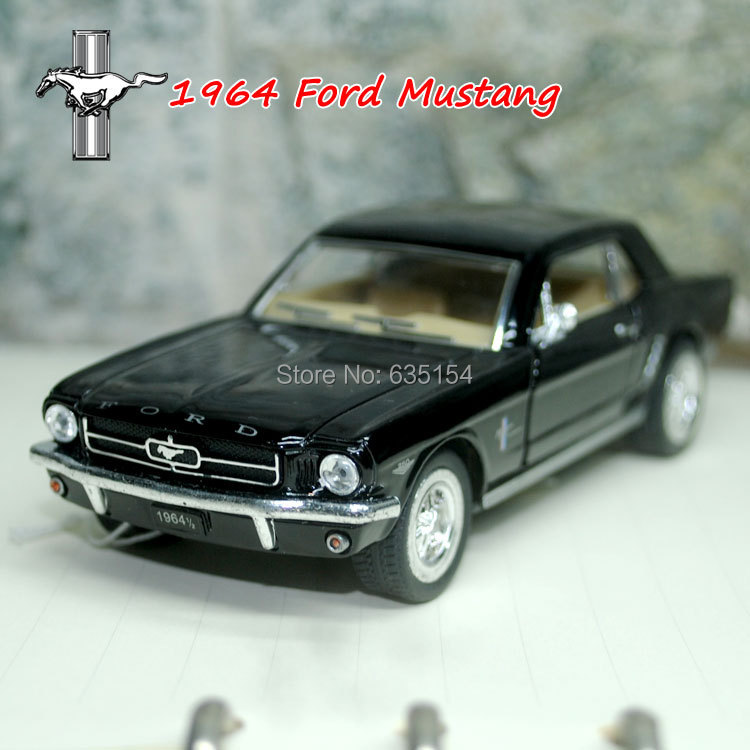 Wholesale 5pcs/pack Brand New 1/36 Scale Classic Vintage Pull Back Car Toys 1964 Ford Mustang Diecast Metal Car Model Toy(China (Mainland))