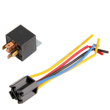 DC 12V Universal Car Auto Relay Kit Fixed Back 5 Pin Socket 5 Wire 20A/30A Lowest Price New Dropping Shipping(China (Mainland))