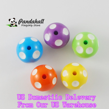 100pcs/lot 20mm Chunky Bubblegum Acrylic Beads Round Mix Color Spacer Beads DIY Necklace jewelry Making supplies craft children(China (Mainland))
