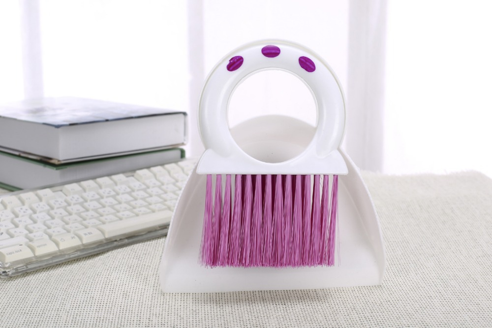 2015 new arrival high quality hot sale mini purple dustpan computer keyboard cleaning brush for keyboard or screen(China (Mainland))