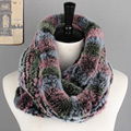 2 colors real mink fur women winter scarves long style fashion patchwork weave soft warm female ladies scarf
