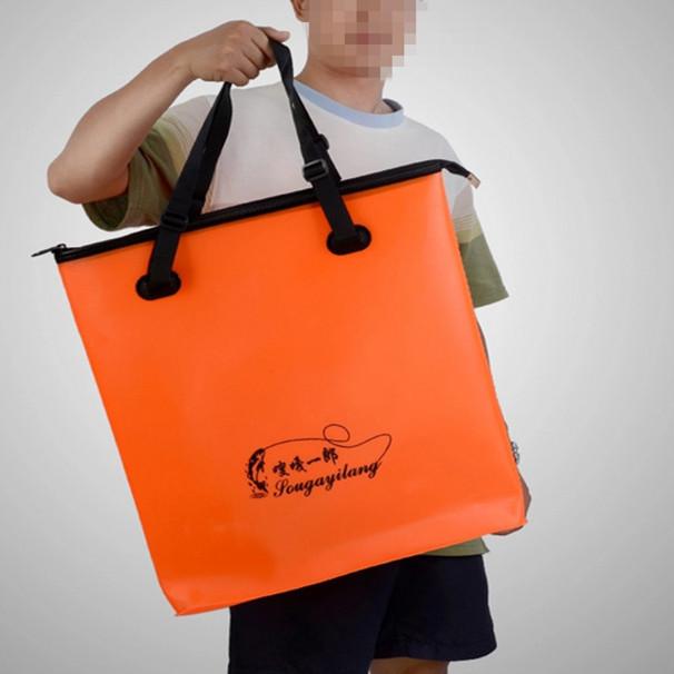 High quality Fishing Bag EVA folding water proof Outdoor water bucket/bag 49*46cm 460g Fish tank Fishing Tackle(China (Mainland))