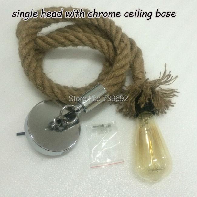 Free shipping DIY personality hemp rope pendant lights lamps dia.2.5cm,L200cm hemp rope clothing pendant lamps,vintage style(China (Mainland))