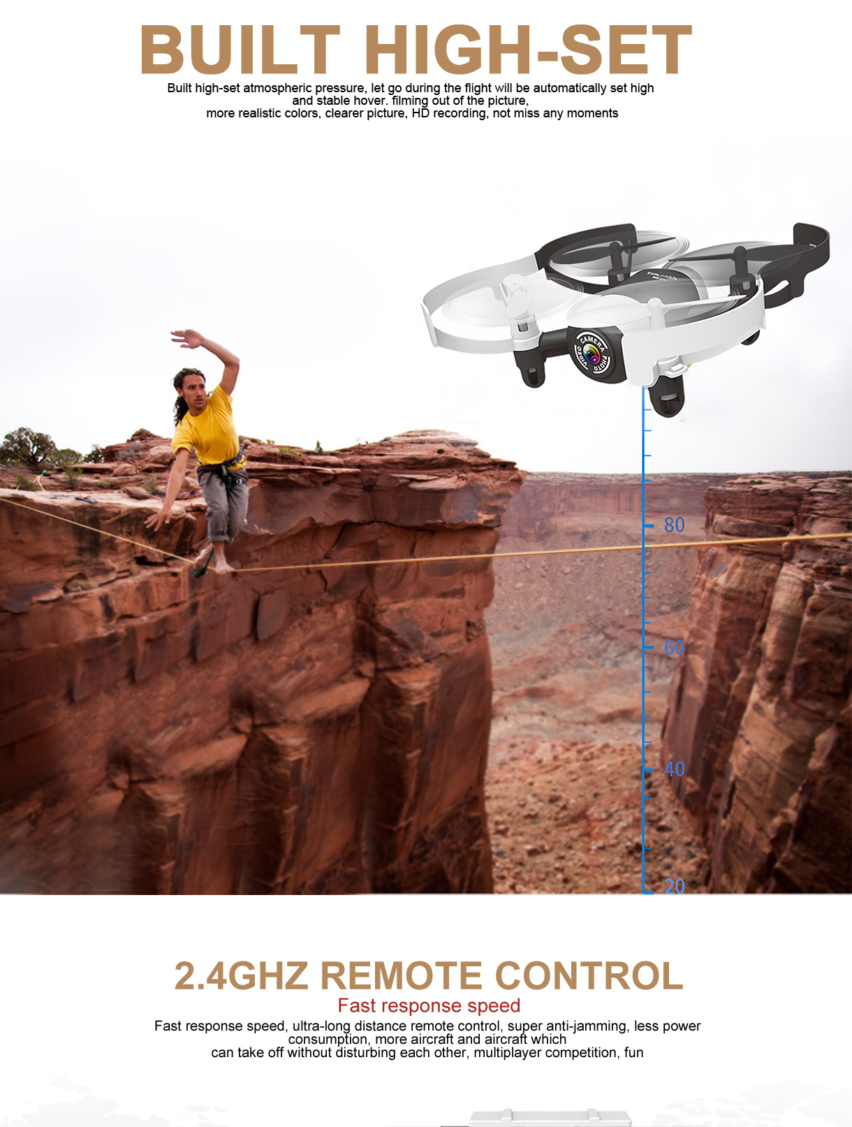 Original JXD 512DW 6 Axis Gyro 2.4GHz WiFi Remote Control WIFI Real-time Mini Drone with 0.3MP HD Camera 3D Roll RC Quadcopter