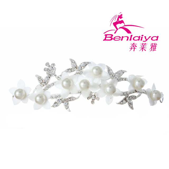 2013 Free Shipping 3pcs/lot Rhinestone Hairwear Fashion Wedding Hair Accessories Hot Sale Flower Bridal Jewelry Silver Plated