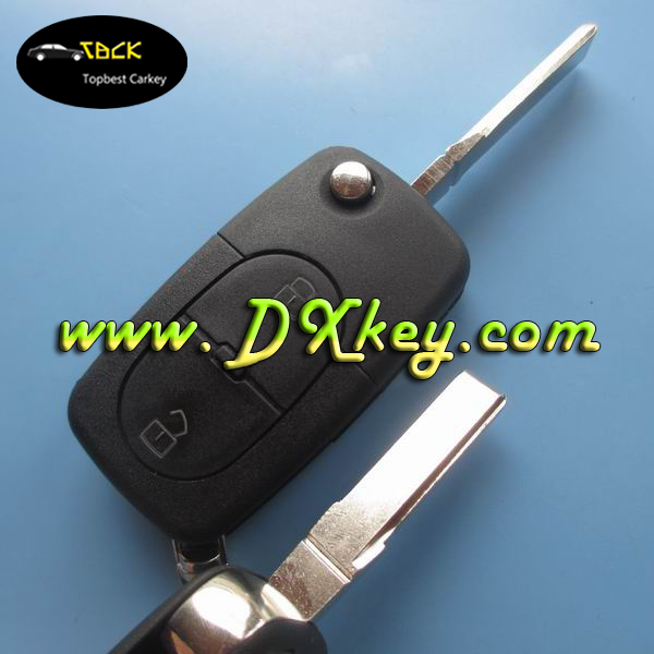 High quality 2 button remote key case for VW Volkswagen key cover with 1616 battery place(China (Mainland))