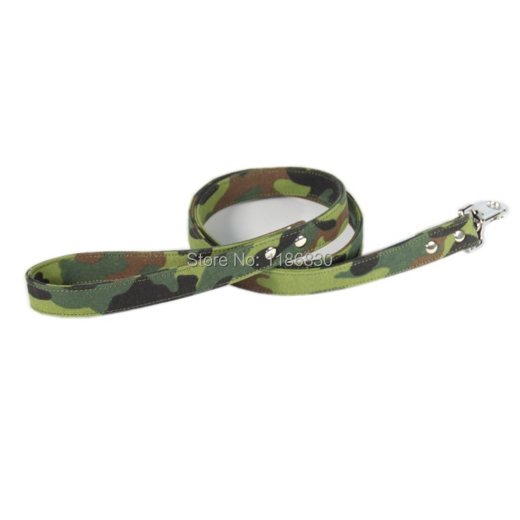 Dark green camouflage military police dog leash Leash Dog Supplies - kuang store
